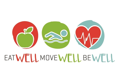 Eat Well! Move Well! Be Well! logo